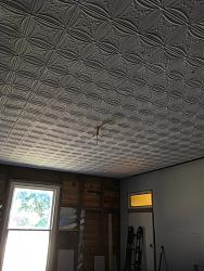 Pressed tin ceiling plaster walls and cornice options