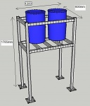 how to build a water tank stand